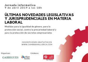 Jornada informativa: Últimas novedades legislativas y jurisprudenciales en Materia Laboral